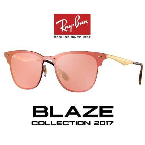 lentes rayban clubmaster blaze  rosa - en stock somos óptica