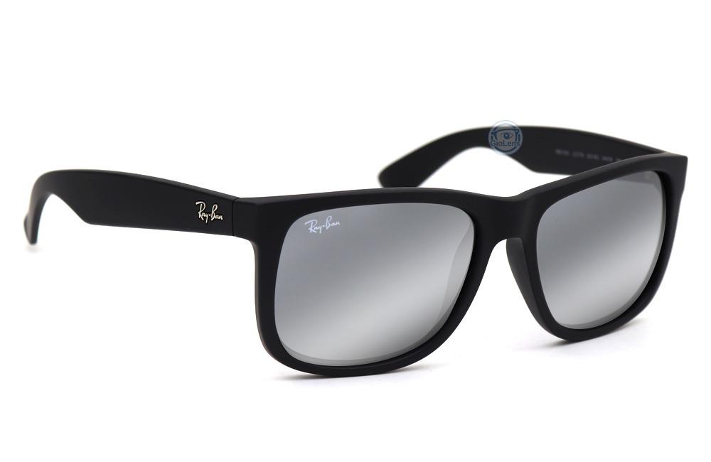 e749d0f13c lentes rayban rb 4165 622 6g rubber black grey mirror silver. Cargando zoom.