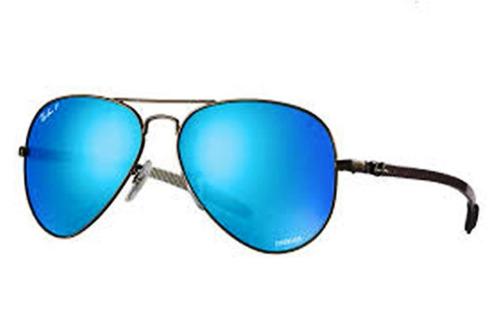 lentes rayban tipo aviador azul