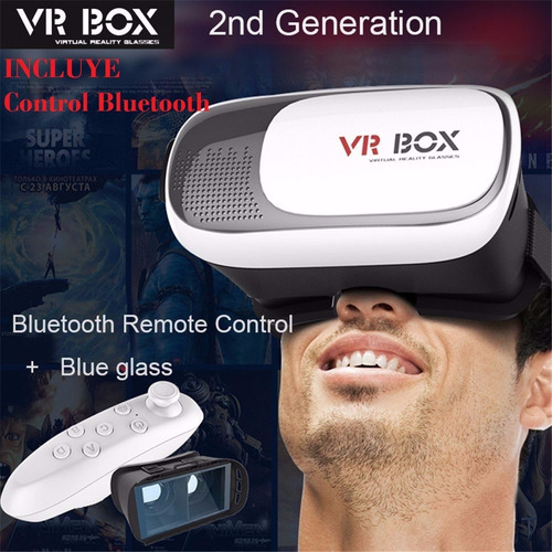 lentes realidad virtual 3d vr box 2.0