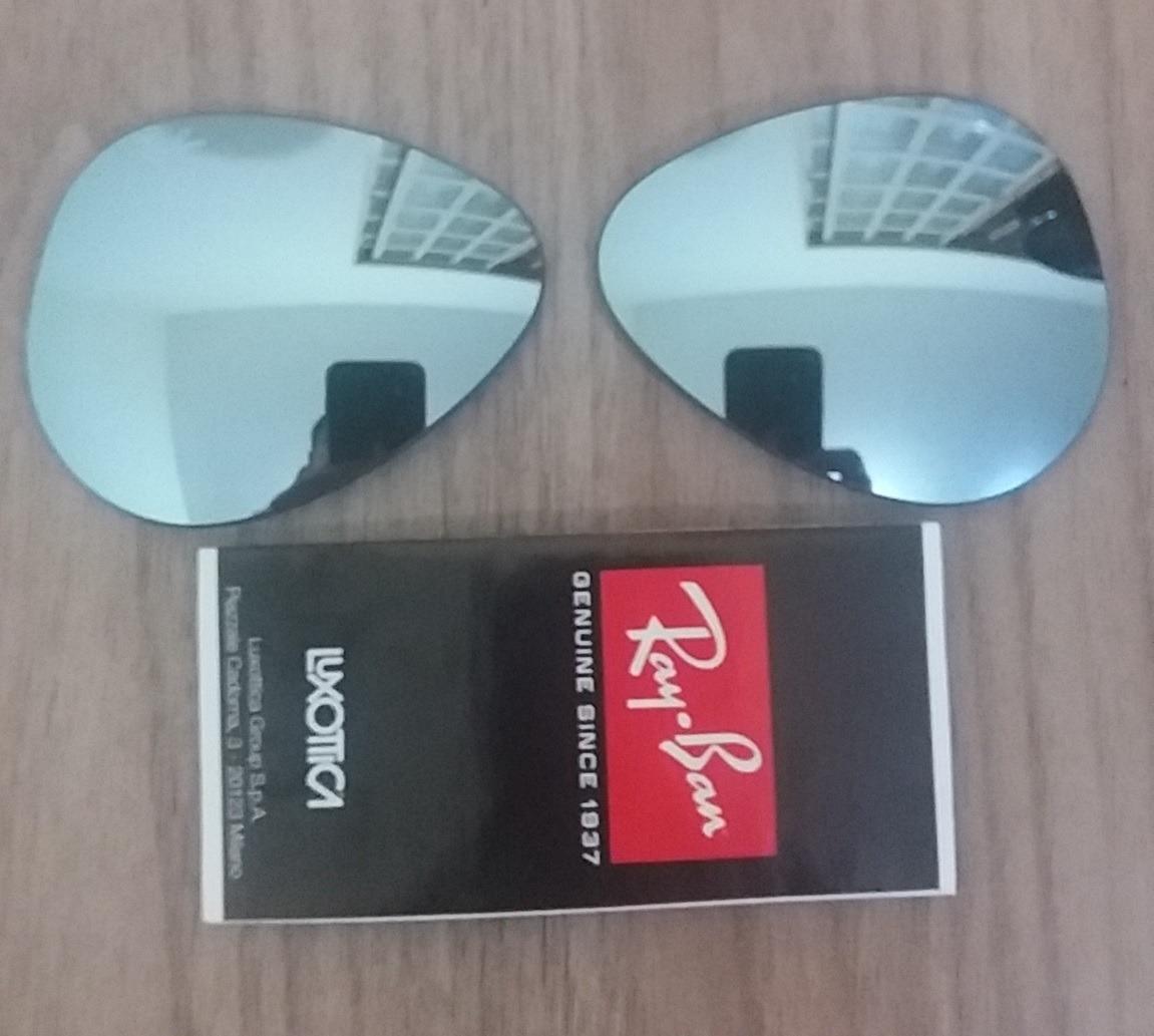 7587ead390fe9 lentes reposição ray-ban aviador rb3025 tamanho 58 original. Carregando zoom .