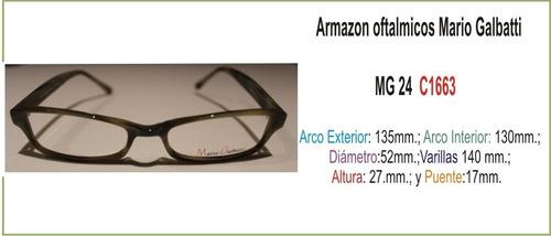 lentes sin armazon frances, mario galbatti mg138/brown