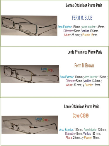 lentes sin-armazon plume paris, black & metal elm/c2682