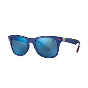 ee6fed977fed3 Ray Ban Rb4195m F604 h0 Wayfarer Liteforce Ferrari Azul Rojo
