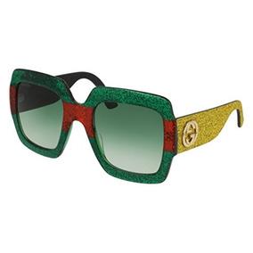 28ec96f3f7a Gafas De Sol Gucci Gg 0102 S-006 Multicolor   Oro Verde