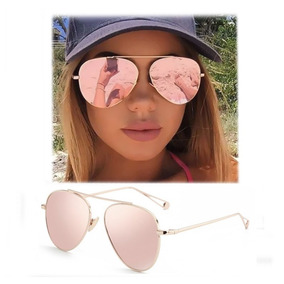 7f22362e2b Lentes Dama Aviador Gafas Rosa Mujer Funda Y Paño