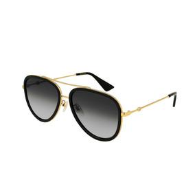 6d210f0f81 Lentes Gafas De Sol Gucci Gg0062s Aviator Made In Japan