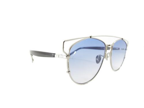 2458b2fb6c Lentes Sol Christian Dior Technologic Plateados - $ 2,200.00 en ...
