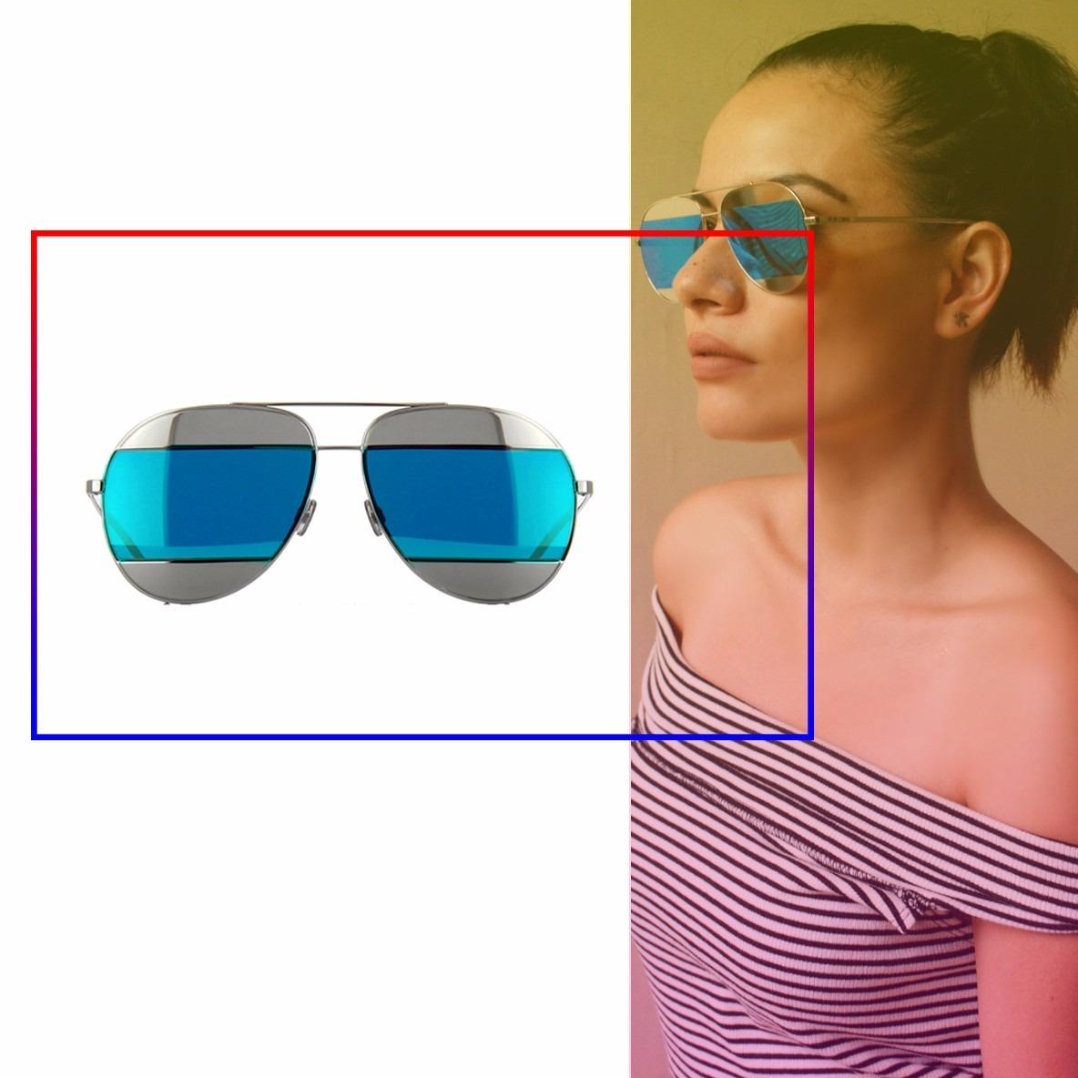 a617fab105 Lentes De Sol Dior Split 000dc Plata Azul Gafas Envio Gratis ...