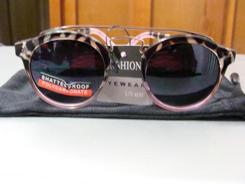 lentes sol diseño lennon ozzy vip lepardo y rosa con envio