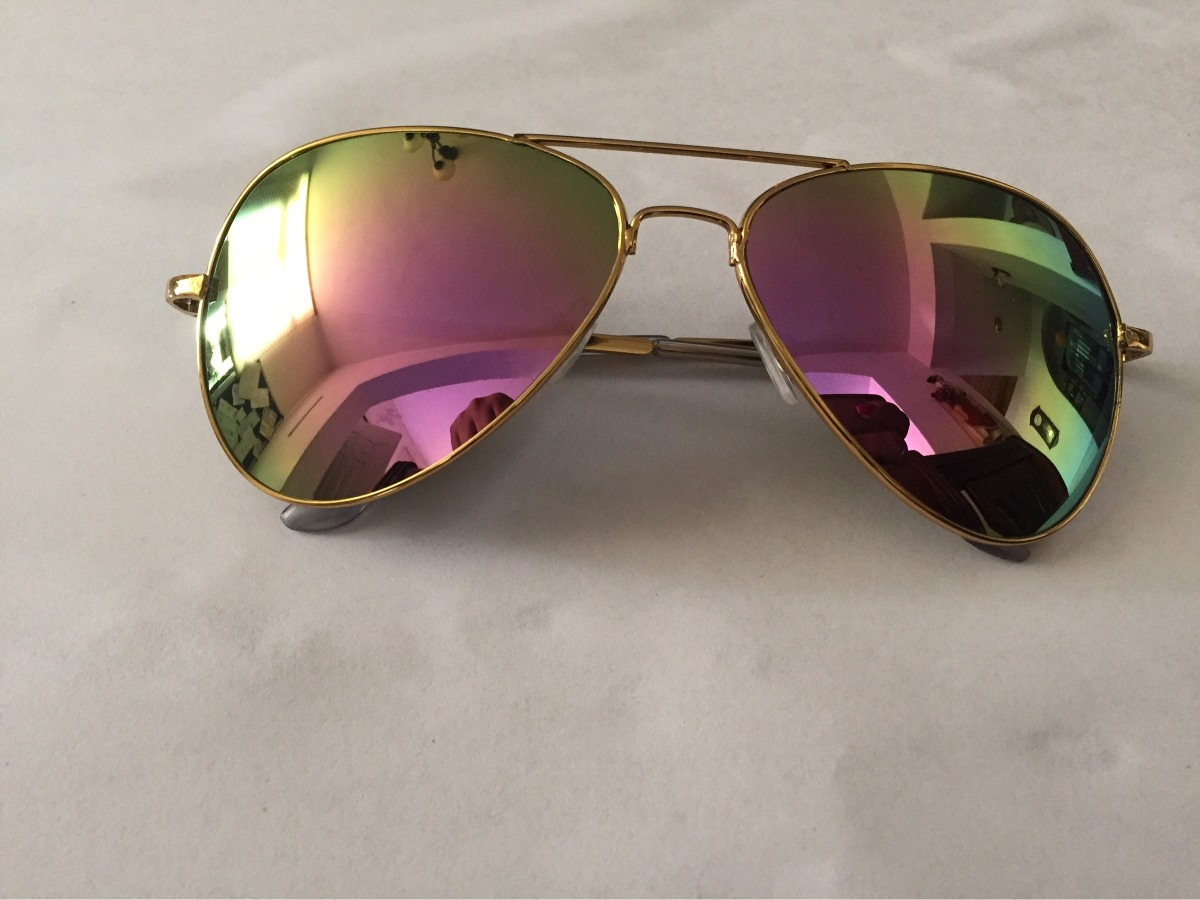 db6f5d669a lentes sol hombre mujer tipo aviador tornasol proteccion uv. Cargando zoom.