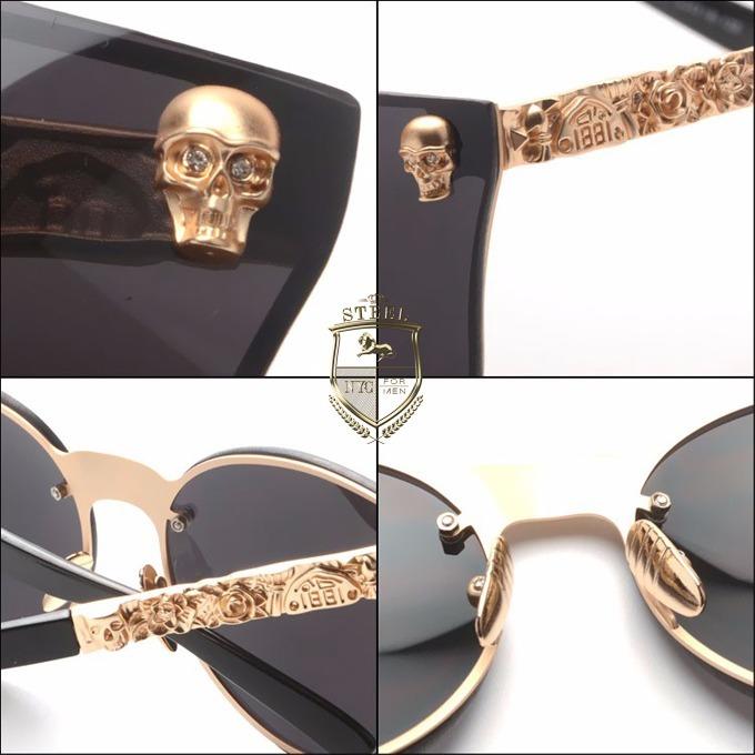 8b292a6254 Lentes Sol Oscuros Gafas Skull Goth Dark Calavera Craneo - $ 329.00 ...