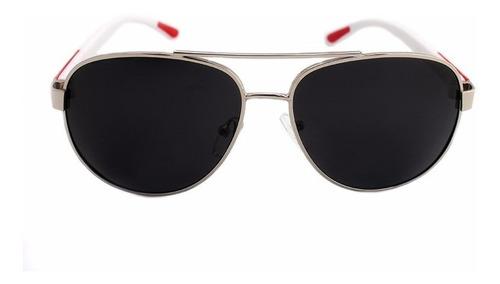 lentes sol paps  lunmt0102ap  metal  mayoreo blanco/ negro