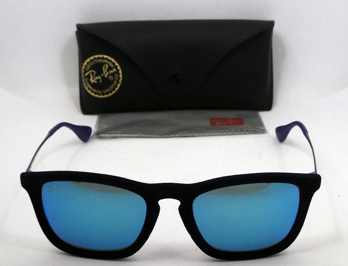 59e31b1b906b1 Lentes Sol Ray Ban Rb4187 Chris Azul Espejado Original 54mm ...