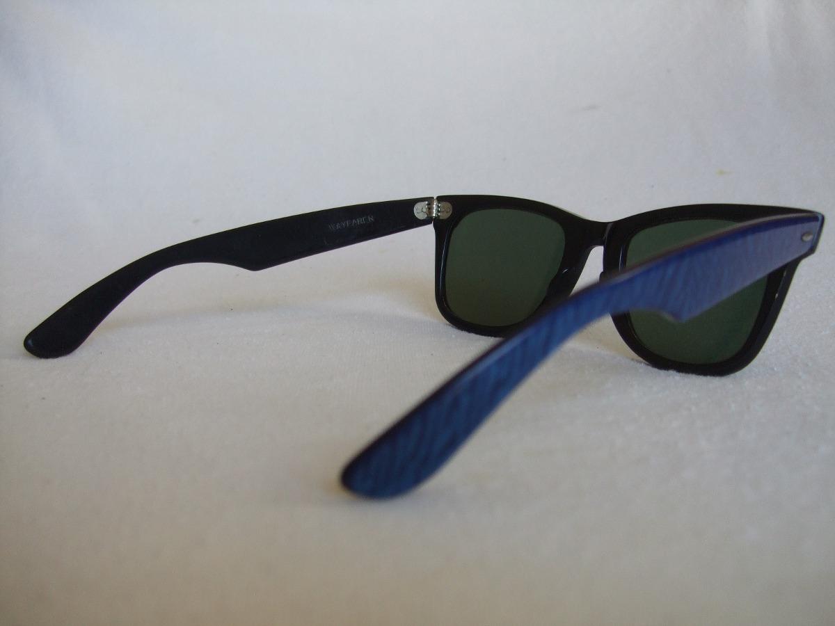 lentes sol ray ban wayfarer vintage bausch lomb azul negro 1 en mercado libre. Black Bedroom Furniture Sets. Home Design Ideas
