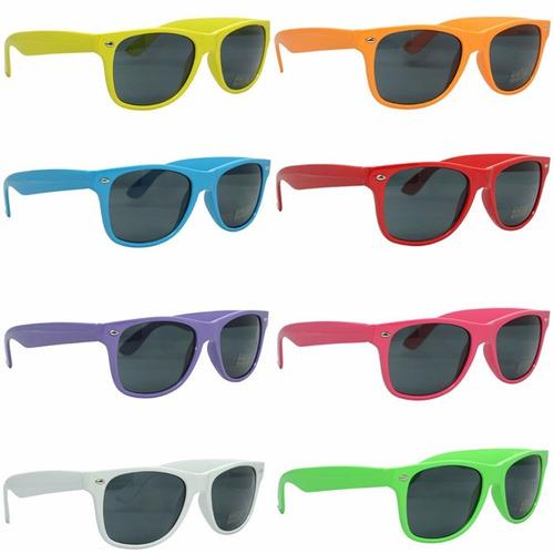 lentes sol wayfarer varios colores moda unisex modelos retro