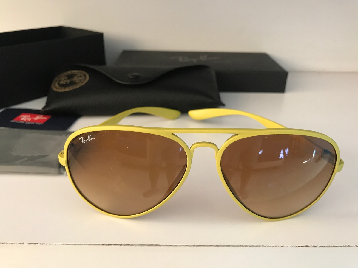 3fd0d724e5 lentes solar ray ban aviator amarillos 100% originales nuevo. Cargando zoom.