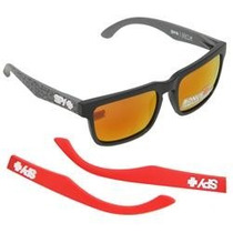 Lentes Spy Helm Kb Concrete - Grey W/ Red Spectra (+matte Re