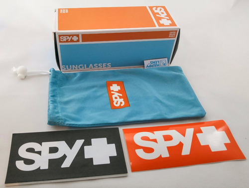 lentes spy dirk matte black/polar blue spectra, nuevos!!