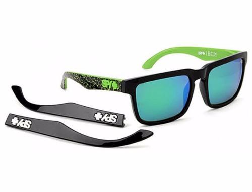 lentes spy helm kb assault - grey w/ green spectra (+gloss b