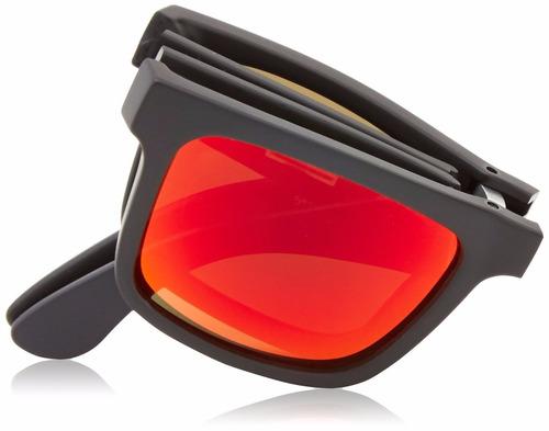 lentes spy the fold matte black - bronze w/ red spectra sun