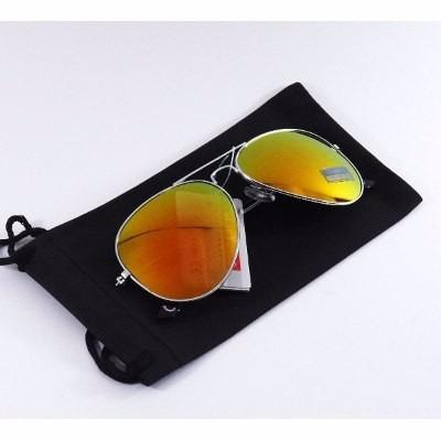 lentes tipo aviator color naranjas/rojos