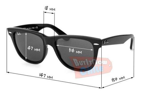 lentes tiporb wayfarer negros cristales de vidrio patas flex
