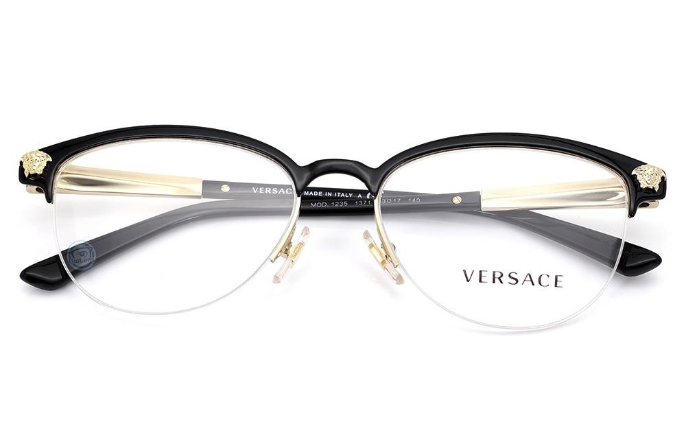 c7539a65867dd lentes versace 1235 1371 black   gold mujer oftalmico nuevo. Cargando zoom.