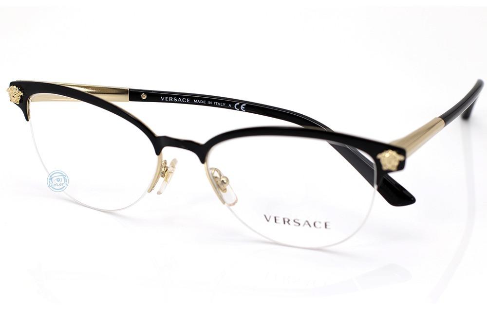 d2a4cd4507 lentes versace 1235 1371 black   gold mujer oftalmico nuevo. Cargando zoom.