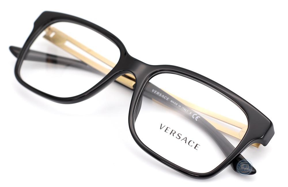 c02372b1c2a3 lentes versace 3218 gb1 black gold oftalmico unisex original. Cargando zoom.