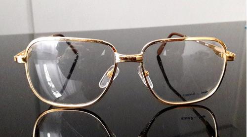 lentes vintage 1980, klaus, rectangular, gafas dorada