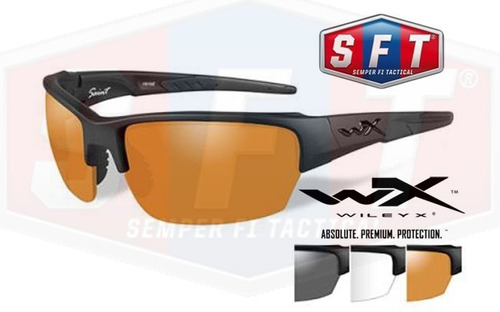 lentes wiley x saint intercambiables grey+clear+rust s f t®