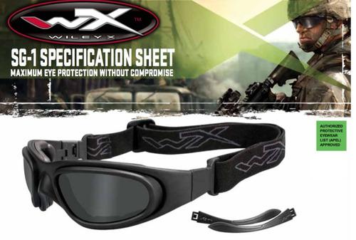 lentes wileyx sg-1 policial ballistic tactical motocross usa