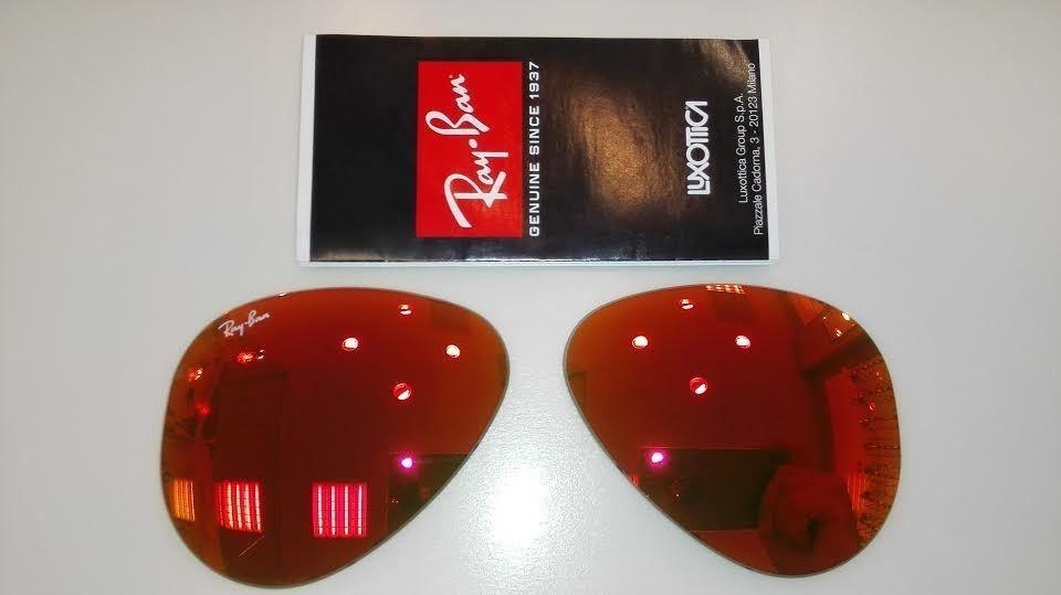 1ae31f8eb9 lentes/cristal rojo reemplazo rayban aviador 3025 58mm rb. Cargando zoom.