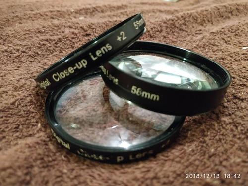 lentillas close up macro fotografia kit 58mm
