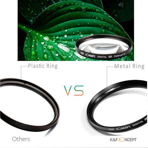 lentillas macro 49 mm k&f concept +1+2++4+10. con estuche