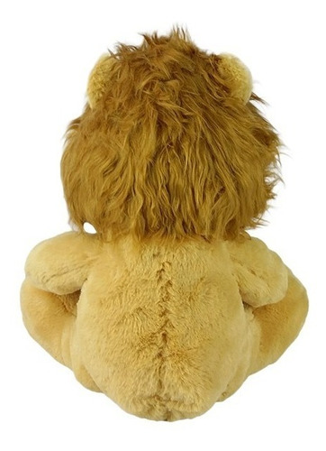 leão de pelúcia sentado 33cm