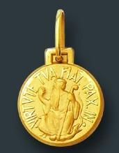 544dc993a55a7 Leão Jóias Pingente Medalha São Bento De Ouro 18k 1 Cm - R  314
