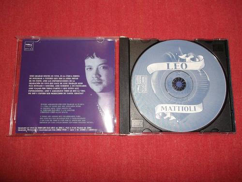 leo mattioli - en vivo edición limitada cd arg 2003 mdisk