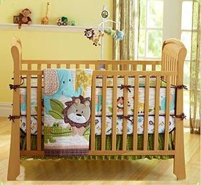 León Lindo Del Safari Del Bebé De 7 Piezas Del Cuarto De Niñ