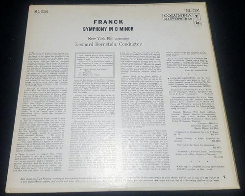 leonard bernstein franck sinfonía re menor disco lp import °