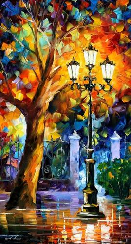 leonid afremov cuadro pintura óleo original - romantic