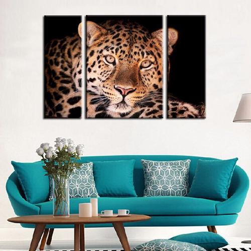 leopardo cuadro bastidor en tela canvas 120x80