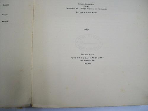 leopoldo lugones historia de sarmiento primera edicion 1911