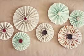 leque circular decorativo em papel para eventos, festas