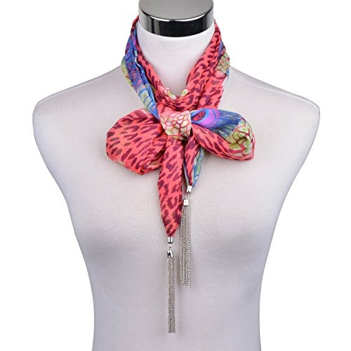 lerdu idea de regalo leopard skinny bufanda collar para las
