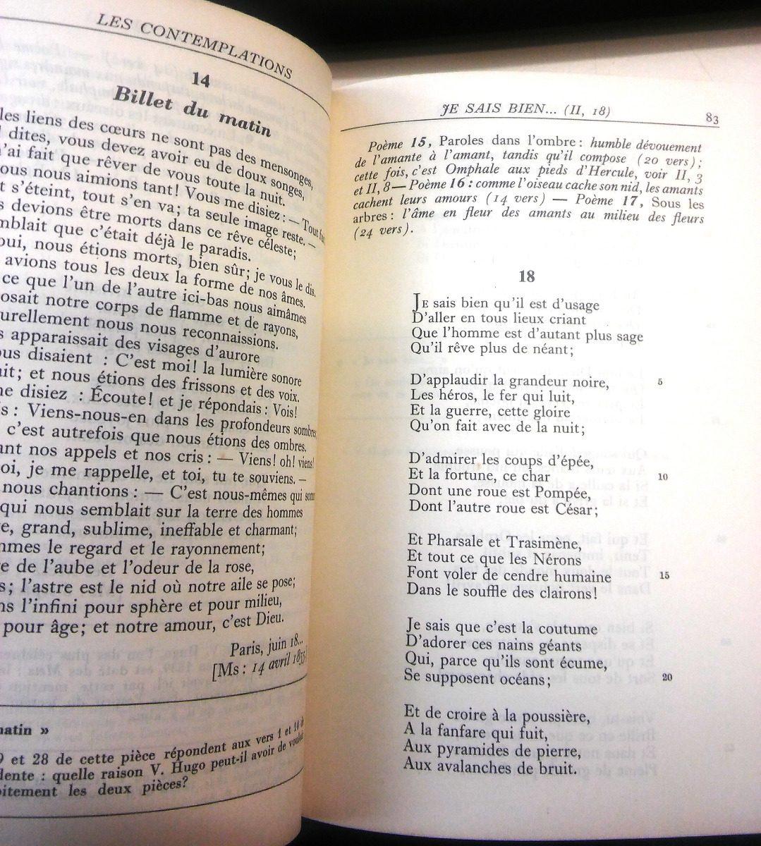 Les Contemplations Víctor Hugo En Francés 8000