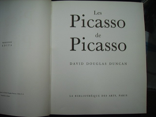 les picasso de picasso - david douglas duncan