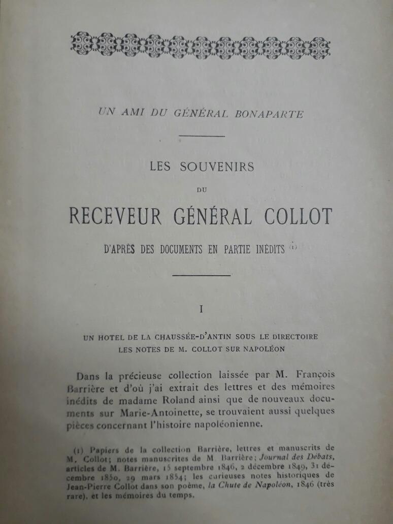 Les Souvenirs Du Général Collot Clarisse Bader Lyon 1897 21200