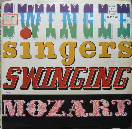 les swingle singers swinging mozart - lp philips 1966